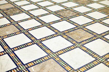 hone: morocco arab hone floor decoration pattern background Stock Photo