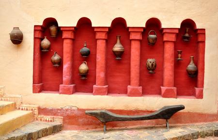 recipient: agadir city morocco medina landmark arab ceramic vase