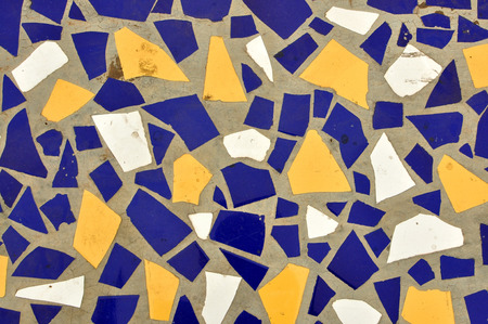shards: ceramic hone and tile shards mosaic pattern background Stock Photo