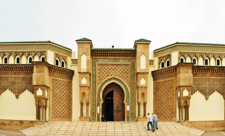 mohammed: agadir city morocco Mohammed V Mosque entrance landmark architecture Editorial
