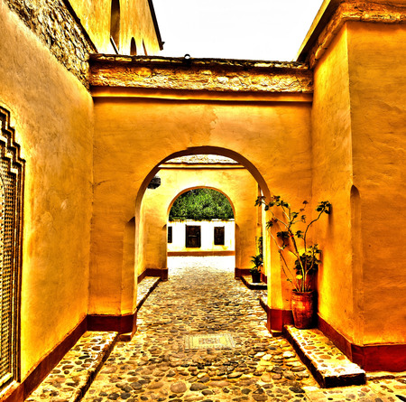 archway: agadir city morocco medina landmark arab archway hdr