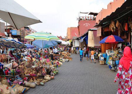 bazaar: marrakech city morocco medina bazaar market landmark 05.06.2015 Editorial