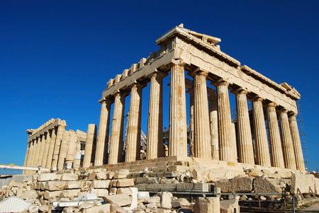 Athen Stadt Griechenland Parthenon auf der Akropolis Wahrzeichen Architektur