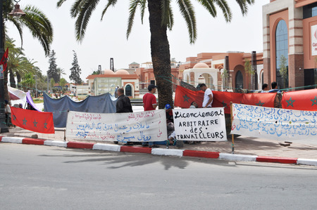 syndicate: marrakech city morocco working people protest editorial 05.06.2015