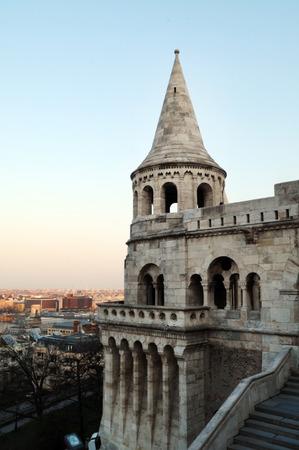 bastion: Budapest city Hungary Fishermen Bastion landmark architecture Editorial