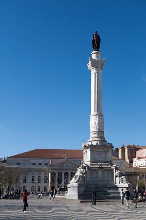 dom: lisbon city portugal Lisbon Dom Pedro IV statue landmark editorial 04.09.2011 �ditoriale