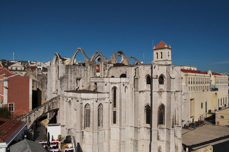 convento: lisbon city portugal Convento do Carmo landmark architecture