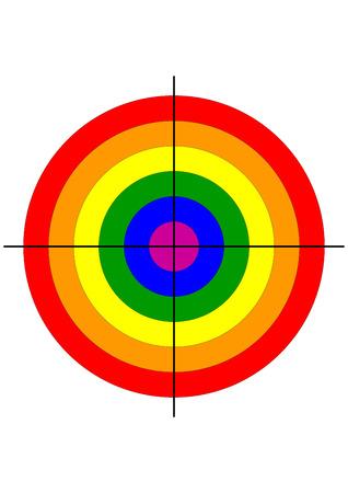 bandera gay: disparar arma range Bullseye gay símbolo del blanco de la bandera