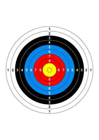 shooting: gun shooting range bullseye illustration target symbol
