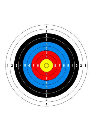 target practice: gun shooting range bullseye illustration target symbol