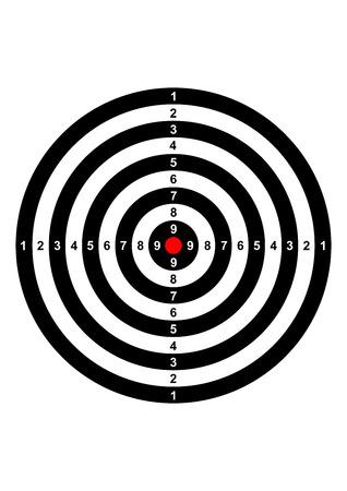 gun shooting range bullseye illustratie doelsymbool