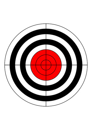 sniper training: gun shooting range bullseye illustration target symbol
