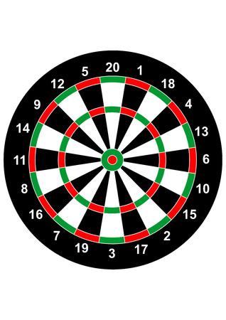 bullseye: Dart Spielbrett Bullseye illustration Zielsymbol Illustration