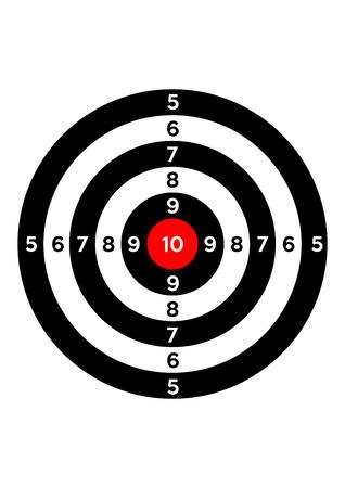 gun shooting range bullseye illustration target symbol Banco de Imagens - 44049083