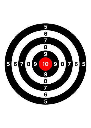 gun shooting range bullseye illustration target symbol