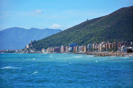 Loano town liguria italy Mediterranean Sea shore