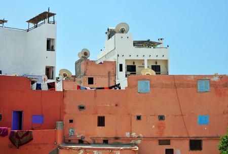 needy: morocco taghazout village near agadir slum poor people building