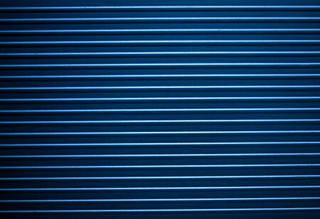 ridged: Horizontal ridged blue metal stripes pattern texture