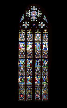matthias: budapest hungary saint matthias cathedral stained glass