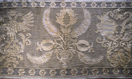 buda: budapest hungary buda museum old embroidery pattern �ditoriale