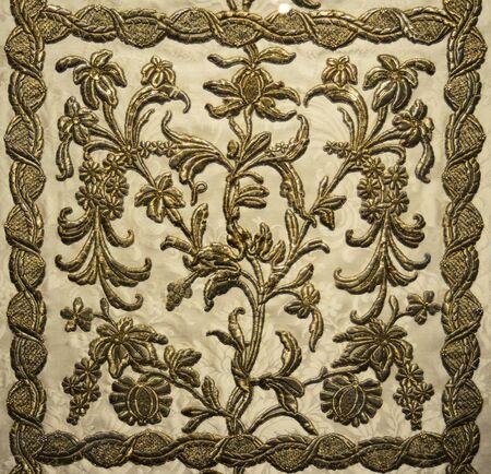 stole: catholic priest stole old coat pattern texture