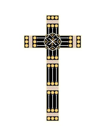 buda: hungarian cross budapest hungary buda museum replica over white