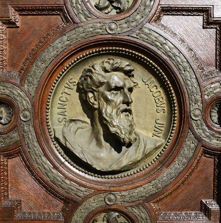 saint stephen cathedral: budapest hungary saint Stephen Basilica saint jacob Bas-relief