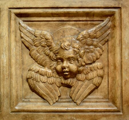 buda: budapest city hungary buda  stone angel exhibit Banque d'images