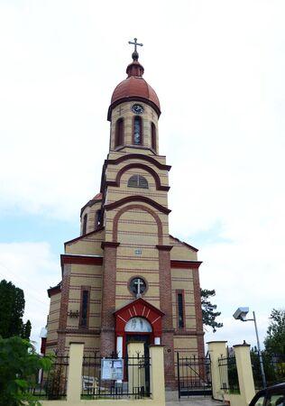 serbia: Crvena Crkva village Serbia red church landmark architecture
