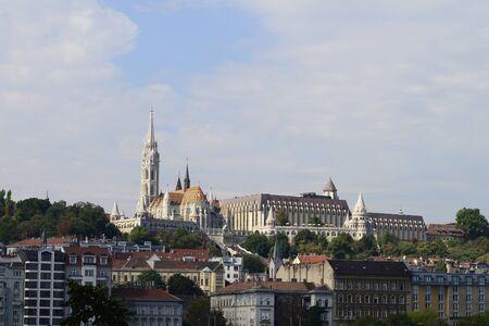 bastion: Budapest City Hungary Matthias Church and Fisherman Bastion Landmarks Architecture