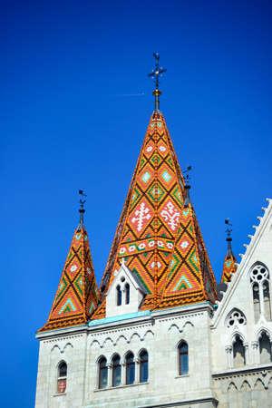 matthias: budapest city hungary matthias church roof landmark architecture