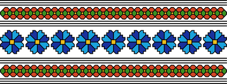 motifs: abstract flower romanian folk popular motifs pattern