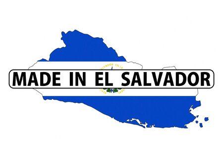 mapa de el salvador: realizado en El Salvador pa�s bandera nacional la forma del mapa con el texto