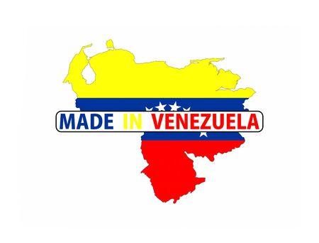 mapa de venezuela: hecho en Venezuela pa�s bandera nacional la forma del mapa con el texto
