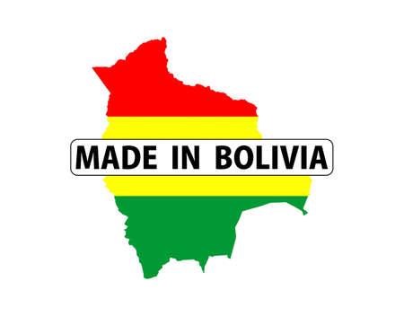 mapa de bolivia: realizado en el pa�s Bolivia bandera nacional la forma del mapa con el texto Foto de archivo