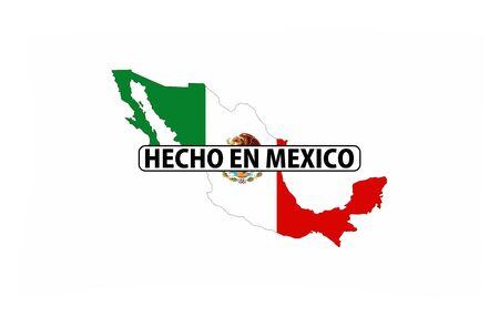 멕시코 국가 국기 셰이프 텍스트로 만든 스톡 콘텐츠