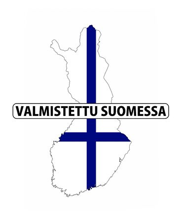 made in finland: made in finland country national flag map shape with text