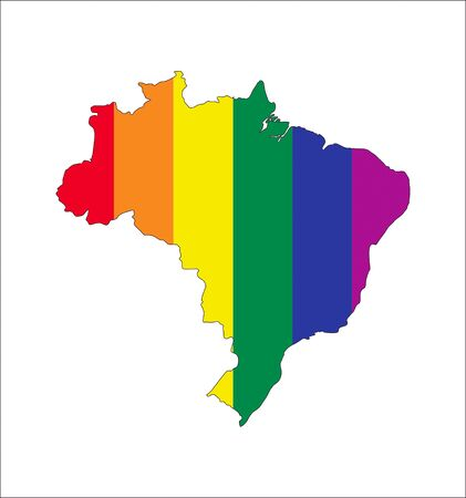 brazil country: brazil country gay pride flag map shape