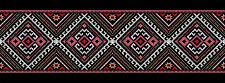 folk heritage: romanian traditional ethnic costume motif seamless pattern