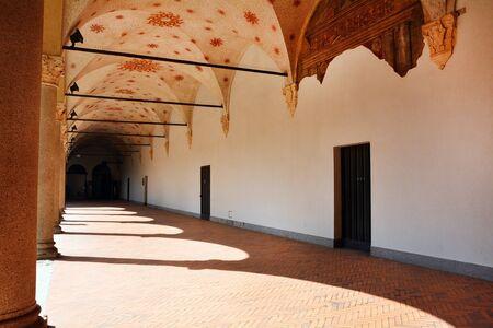 sforza: Milan city Italy Sforza Castle landmark architecture detail