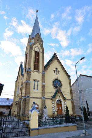protestant: Lugoj City Romania Protestant Church landmark architecture Stock Photo