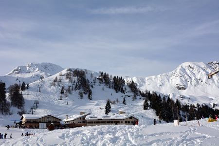 editorial: VAL BREMBANA, ITALY - 06.26.2015: San Simone Italy Ski Resort editorial