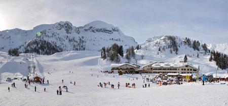 simone: VAL BREMBANA, ITALY - 06.26.2015: San Simone Italy Ski Resort editorial