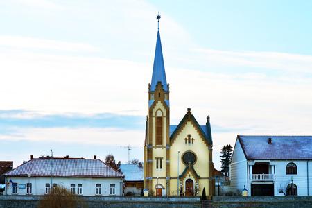 protestant: Lugoj City Romania Protestant Church landmark architecture Editorial
