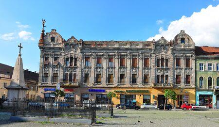 editorial: TIMISOARA, ROMANIA - 5.7.2015: traian area square architecture editorial Editorial