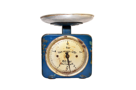 thaler: vintage russian balance isolated over white background