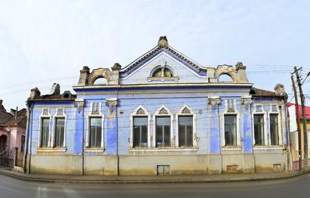 city and county building: lipova city arad county romania old building Editorial