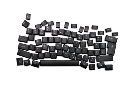 dyslexia: dyslexia black computer keyboard over white background