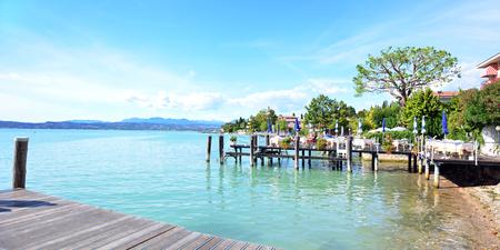 sirmione: Garda Sirmione city italy lake shore landscape