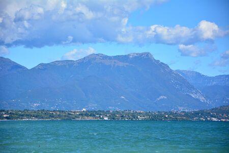 coastline: Desenzano town Italy Garda Lake coastline landscape Stock Photo